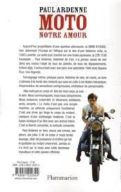 Moto, notre amour - 4ème de couverture - Format classique