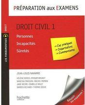 Préparation aux examens ; droit civil t.1 - Couverture - Format classique