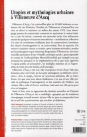 Utopies et mythologies urbaines a villeneuve d ascq - 4ème de couverture - Format classique