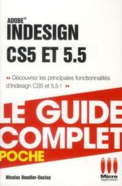 Indesign CS5 et 5.5 et les ePub - Couverture - Format classique