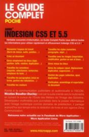 Indesign CS5 et 5.5 et les ePub - 4ème de couverture - Format classique