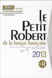 Petit Robert 2013 ; coffret - Couverture - Format classique