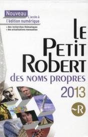 Petit Robert 2013 ; coffret - 4ème de couverture - Format classique