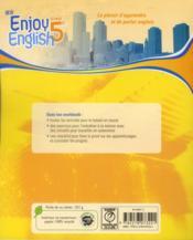 NEW ENJOY ENGLISH ; anglais ; 5ème ; workbook (édition 2012) - 4ème de couverture - Format classique