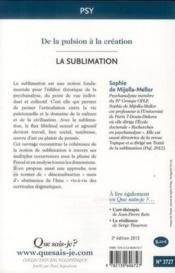 La sublimation (2e édition) - Couverture - Format classique