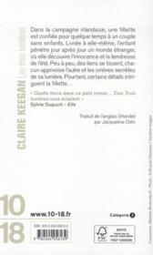 Les trois lumières - 4ème de couverture - Format classique