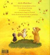 Au lit petit ours - 4ème de couverture - Format classique
