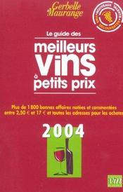 Le guide de meilleurs vins a petits prix ; gerbelle et maurange - Intérieur - Format classique