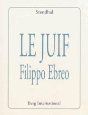Le juif Filippo Ebreo - Couverture - Format classique