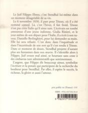 Le juif Filippo Ebreo - 4ème de couverture - Format classique