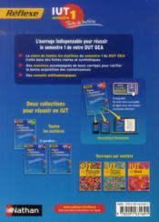 REFLEXE T.23 ; gestion des entreprises et des administrations ; IUT ; semestre 1 ; toutes les matières (édition 2014) - 4ème de couverture - Format classique