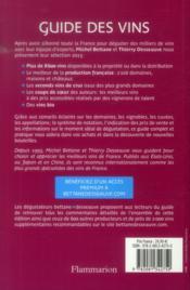 Guide des vins 2015 bettane et desseauve - 4ème de couverture - Format classique