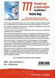 Les instructeurs t.1 ; 777 : passeport pour un monde meilleur - 4ème de couverture - Format classique