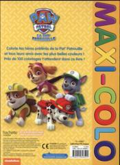 Maxi colo ; la Pat'Patrouille - 4ème de couverture - Format classique