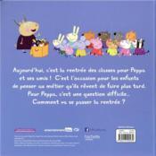 Peppa Pig ; la rentrée de Peppa - 4ème de couverture - Format classique