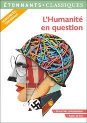 L'humanité en question - Couverture - Format classique