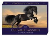 Agenda panoramique ; chevaux passion (édition 2021) - Couverture - Format classique