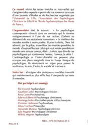 Les nouvelles figures du psychologue clinicien - 4ème de couverture - Format classique