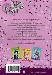 Les chatons magiques T.1 ; une jolie surprise - 4ème de couverture - Format classique