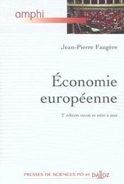 Economie europeenne - 2e ed. - Intérieur - Format classique