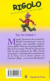 Rigolo T.23 ; Fou Fou D'Amour - 4ème de couverture - Format classique