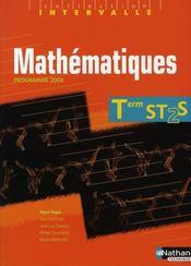 Mathématiques ; terminale ST2S ; livre de l'élève (édition 2008) - Intérieur - Format classique