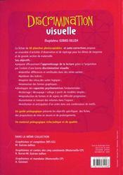 Discrimination visuelle ; MS/GS - 4ème de couverture - Format classique