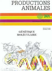 Génétique moléculaire ; productions animales - Intérieur - Format classique