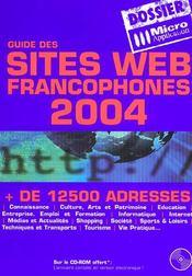 Guide des sites web francophones - Intérieur - Format classique