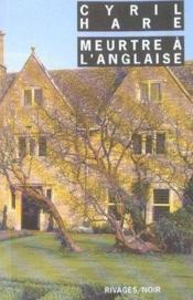 Meurtre A L'Anglaise - Rn N 544 - Couverture - Format classique