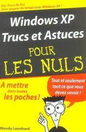 Windows Xp ; Trucs Et Astuces - Intérieur - Format classique