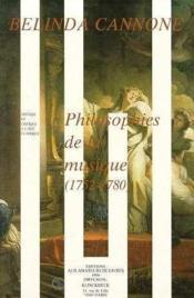 Philosophies De La Musique (1752-1759) - Couverture - Format classique