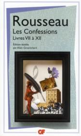 Les confessions t.2 ; livres VII à XII - Couverture - Format classique