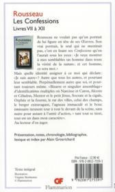 Les confessions t.2 ; livres VII à XII - 4ème de couverture - Format classique