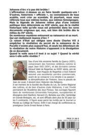 La Pucelle Ou La Revenante - 4ème de couverture - Format classique