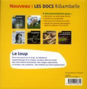 LES DOCS RIBAMBELLE ; le loup ; cycle 2 - 4ème de couverture - Format classique