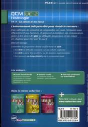 PAES ; histologie ; QCM UE2 - 4ème de couverture - Format classique