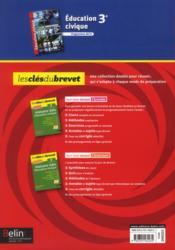 Éducation civique ; 3ème - 4ème de couverture - Format classique