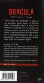 Dracula - 4ème de couverture - Format classique