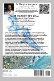 Saint-Nazaire m'a dit - 4ème de couverture - Format classique