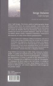 Café Europa - 4ème de couverture - Format classique