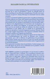 Malaise dans la psychiatrie - 4ème de couverture - Format classique