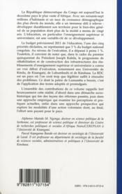 L'université en chantier en RD Congo ; regards croisés sur la réforme de l'enseignement supérieur et universitaire - 4ème de couverture - Format classique