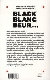 Black blanc beur - 4ème de couverture - Format classique