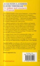 10 idées qui coulent la France - 4ème de couverture - Format classique