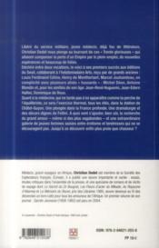 L'abondance et le rêve ; journal 1963-1966 - 4ème de couverture - Format classique