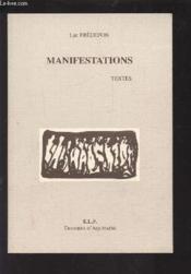 Manifestations, Textes - Couverture - Format classique