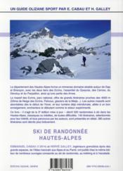 Ski de randonnée, Hautes-Alpes - 4ème de couverture - Format classique