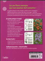 L'indispensable guide de l'amoureux des fleurs sauvages - 4ème de couverture - Format classique