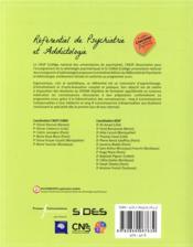 ECN référentiel de psychiatrie et addictologie ; psychiatrie de l'adulte (3e édition) - 4ème de couverture - Format classique